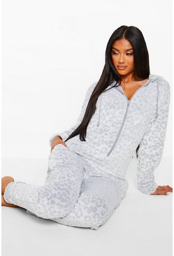 Grey Leopard Burnout Onesie