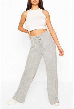Grey Super Soft Split Leg Lounge Pants