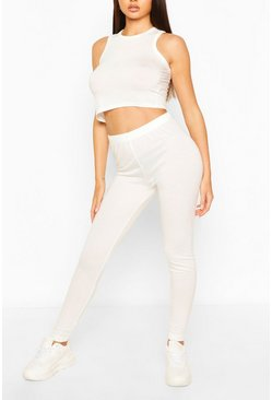 White Super Soft Lounge Leggings