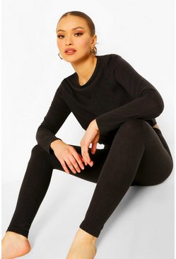 Black Super Soft Lounge Leggings