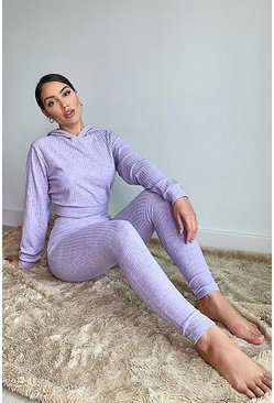 Lilac purple Super Soft Rib Lounge Joggers