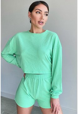 Mint Super Soft Rib Lounge Top