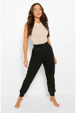 Black Basic Regular Fit Joggers