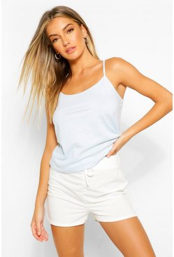 White Mix and Match Cotton PJ Cami
