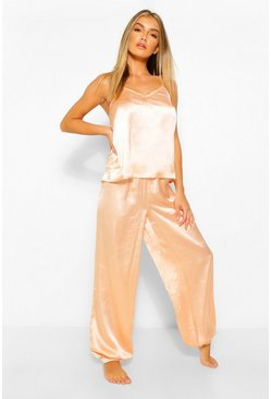 Blush pink Satin Cami and Jogger PJ Set