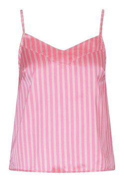 Pink Mix And Match Candy Stripe Satin Cami Pyjama Top