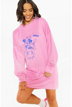 Pink Disney Minnie & Mickey Sweat Dress