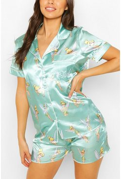 Mint green Disney Tinkerbell PJ Shorts Set
