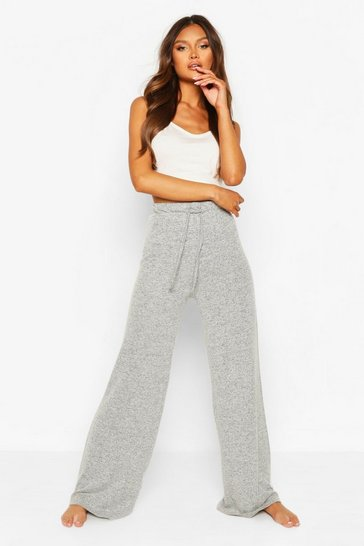 Grey marl grey Mix and Match Super Soft Wide Leg Lounge Pant