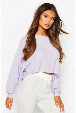 Lilac Ribbed Oversized Lounge Sweat