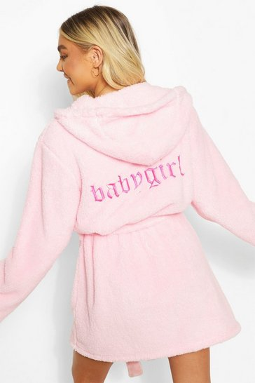 Baby pink pink Babygirl Embroidered Robe