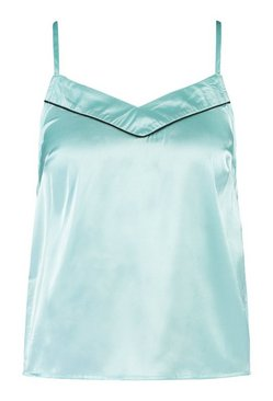 Aqua Mix And Match Satin Cami Pyjama Top