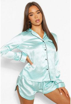 Aqua Mix & Match PJ Shirt