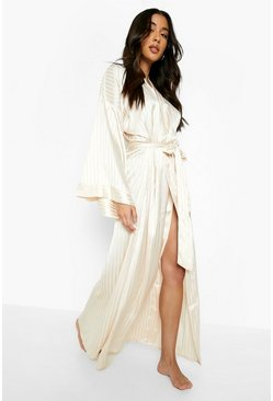 Blush pink Tonal Satin Oversized Sleeve Robe