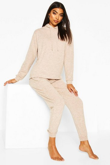 Stone beige Beige Brushed Jersey Marl Lounge Jogger