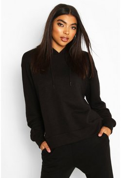 Black Basic Soft Mix and Match Oversized Hoodie