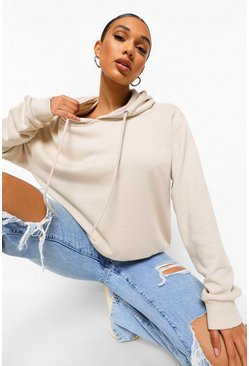 Stone Basic Soft Mix and Match Oversized Hoodie