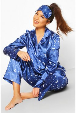 Navy Star Sign 5pc Pyjama Set