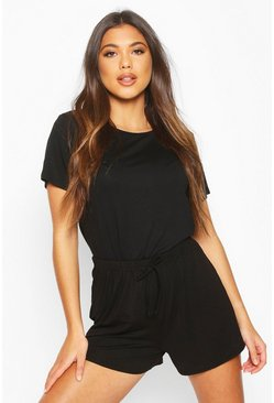 Black Soft Mix and Match Pyjama Short