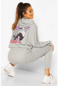 Grey Disney Ursula Hooded Lounge Set