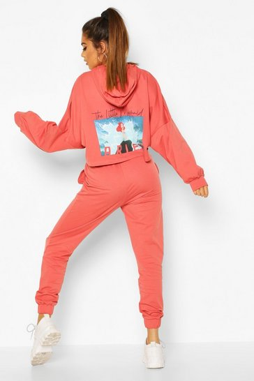 Blush pink Disney Princess Ariel Hooded Lounge Set