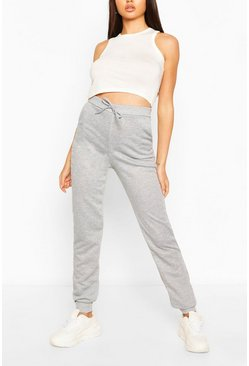 Grijs gemêleerd grey Basic zachte mix & match lounge joggingbroek