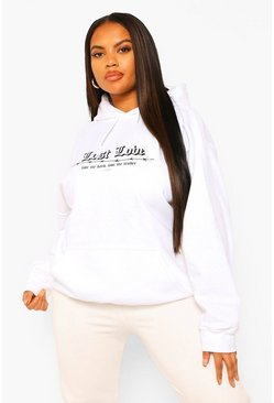 White Plus Lost Love Barbed Wire Boyfriend Hoody