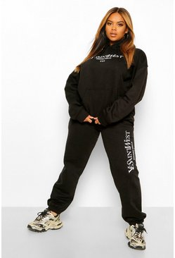 "Grande taille - Ensemble jogging ""Ye Saint West"", Black noir"