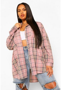 Blush Plus Skull Dove Wire Back Print Check Shirt