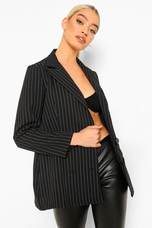 COATS & JACKETS Petite Pinstripe Oversized Blazer