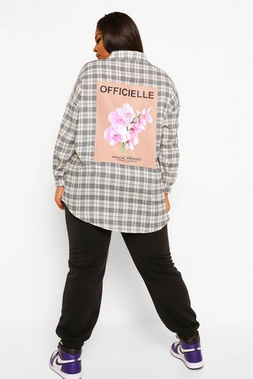 Black Plus Official Check Shirt