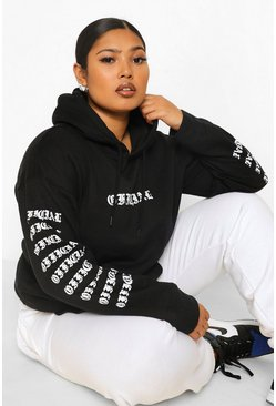 Black Plus Official Arm Print Hoody