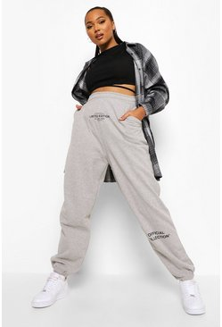 Grey marl Plus Oversized Jogger