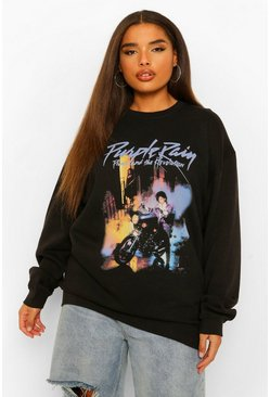 Black Plus Purple Rain License Sweatshirt