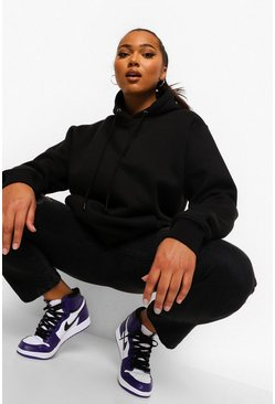 Black Plus Mix And Match Oversized Hoodie