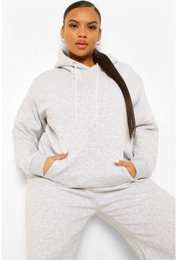 Grey Plus Mix And Match Oversized Hoodie