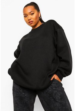 Black Plus Basic Mix And Match Oversized Sweat