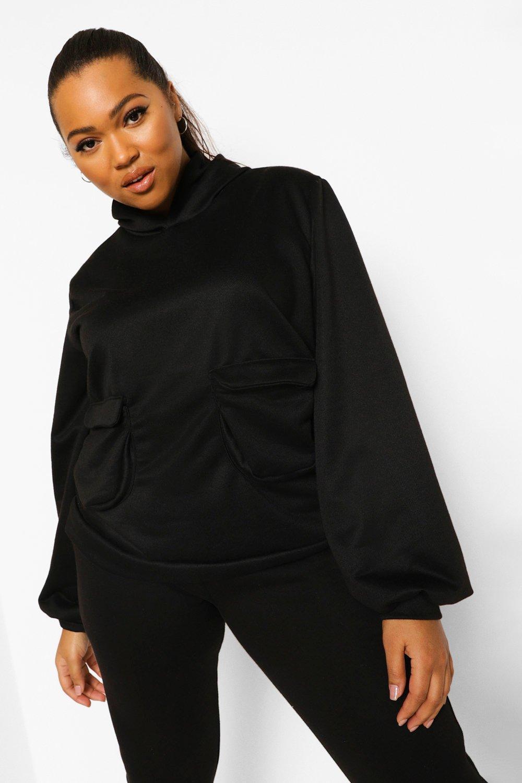 Plus Pocket Front Hoodie 8