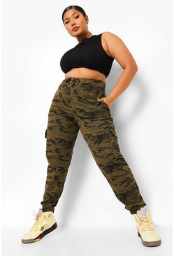 Khaki Plus Camo Joggingbroek