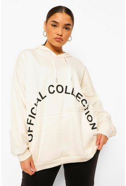 Ecru white Plus Official Collection Hoodie