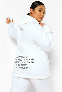 White Plus Limited Edition Back Oversized Hoodie