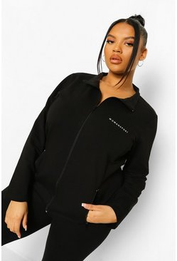 Woman Active Sportjacke in Plusgröße, Schwarz