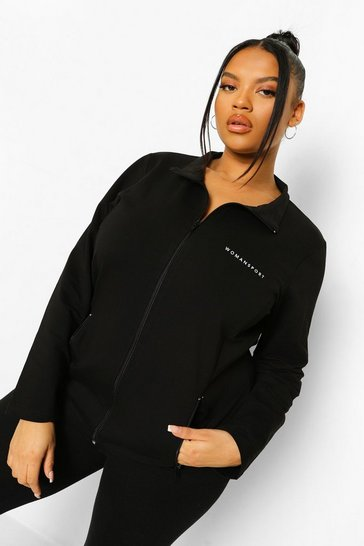 Black Plus Woman Sport Active Jacket