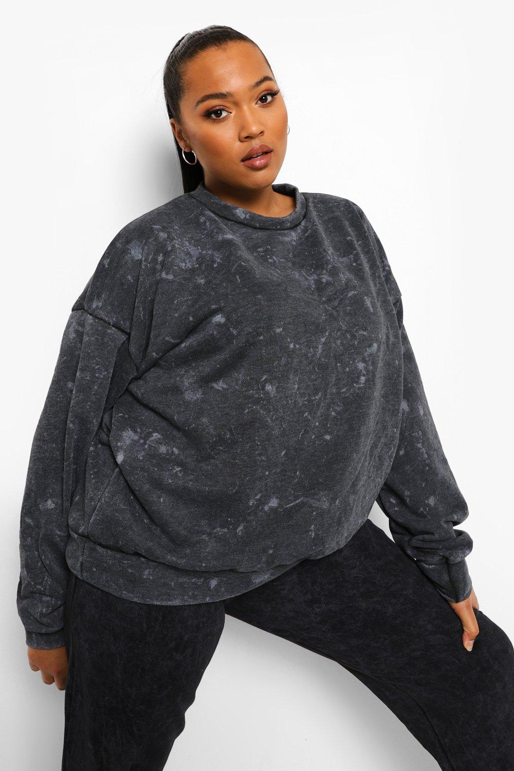 Plus Acid Wash Oversized Sweat 18