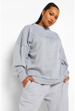 Grey Plus Official Embroidery Studio Oversized Sweat