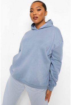 Cloud blue Plus Washed Overdyed Hoodie