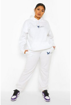 White Plus Woman Butterfly Tracksuit