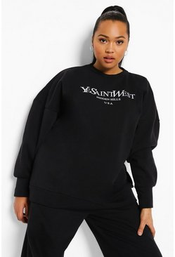 Black Plus Ye Saint West Sweatshirt