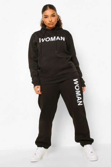 Black Plus Woman Tracksuit