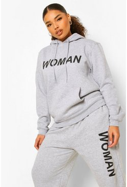 Grey Plus Woman Tracksuit